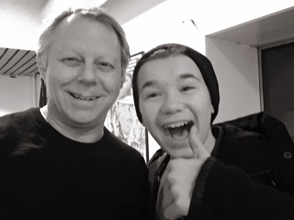 Hyggelig besøk backstage etter konsert i Mosjøen 2016
